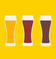 beer glasses three versions vector image vector image