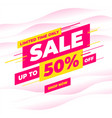 big sale special offer promotion discount banner vector image vector image