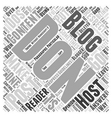 blogging guidelines Word Cloud Concept vector image vector image
