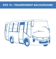 Bus Picture of old transportation hand vector image vector image