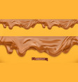 caramel flows peanut butter chocolate spread vector image vector image