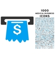 Cash Machine Icon with 1000 Medical Business Icons vector image vector image