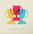 Champion game trophy concept icon color design vector image vector image