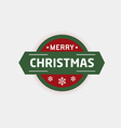 Christmas badges and labels vector image vector image