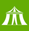 circus tent icon green vector image vector image