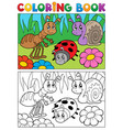 coloring book bugs theme image 5 vector image