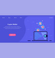 crypto wallet concept banner flat style vector image