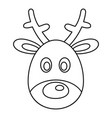deer head icon outline style vector image vector image