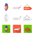 design airport and airplane symbol set vector image vector image