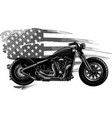 design chopper motorcycle with american flag vector image vector image