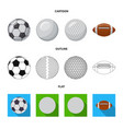 design of sport and ball logo collection vector image