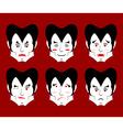 Dracula Emotions Set expressions vampire avatar vector image vector image