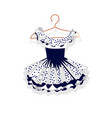 dress with a lush skirt on hanger vector image vector image