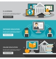 E-learning Banner Set vector image vector image