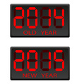 electronic scoreboard old and the new year vector image vector image