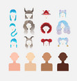 elements to create the character of the girl vector image