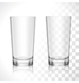 Empty glasses set vector image
