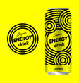 energy drink logo vector image