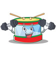 fitness toy drum character cartoon vector image vector image