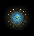 flower life gold symbol sacred geometry mandala vector image vector image