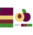 food patterns fruit plum vector image vector image