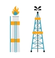 Gas rig station and oil recovery platform flat vector image vector image