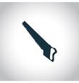 Hacksaw black icon vector image