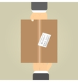 Hands to receive a parcel vector image