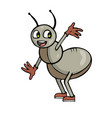 happy ant cartoon vector image vector image