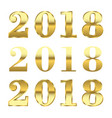 happy new year golden numbers vector image
