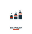 hierarchy icon premium style design from teamwork vector image