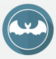 icon bat white circle with a long shadow vector image