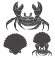 Image with shell crab claws in vector image vector image