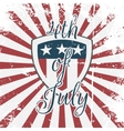 Independence Day 4th of July Holiday Shield vector image
