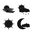 isolated object of weather and climate sign set vector image