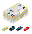 isometric car parking city transportation vector image vector image