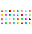jewel icons set flat style vector image