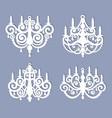 laser cut chandelier template silhouette vector image