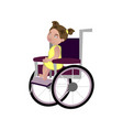 little blondy girl on a wheelchair vector image vector image