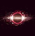 luminous electric circle lightning atmospheric vector image vector image