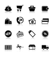 Market Icons Set with reflection vector image vector image