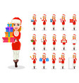 merry christmas greeting card poster or banner vector image vector image
