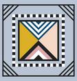 modern geometry tile triangle emblem frame on gray vector image