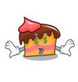 money eye sponge cake mascot cartoon vector image vector image