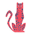 mythical leopard mystical character wild fairy vector image
