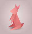 origami paper rabbit separately from the backgro vector image