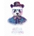 panda portrait in vector image
