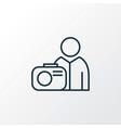 photograph icon line symbol premium quality vector image