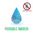 potable and non-potable water blue symbols eps10 vector image vector image