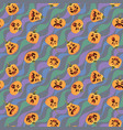 pumpkin halloween pattern of vector image